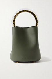 Pannier small leather bucket bag