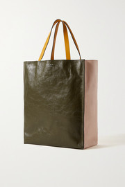 Museo medium color-block crinkled-leather tote