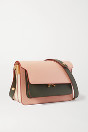Marni Trunk small color-block leather shoulder bag