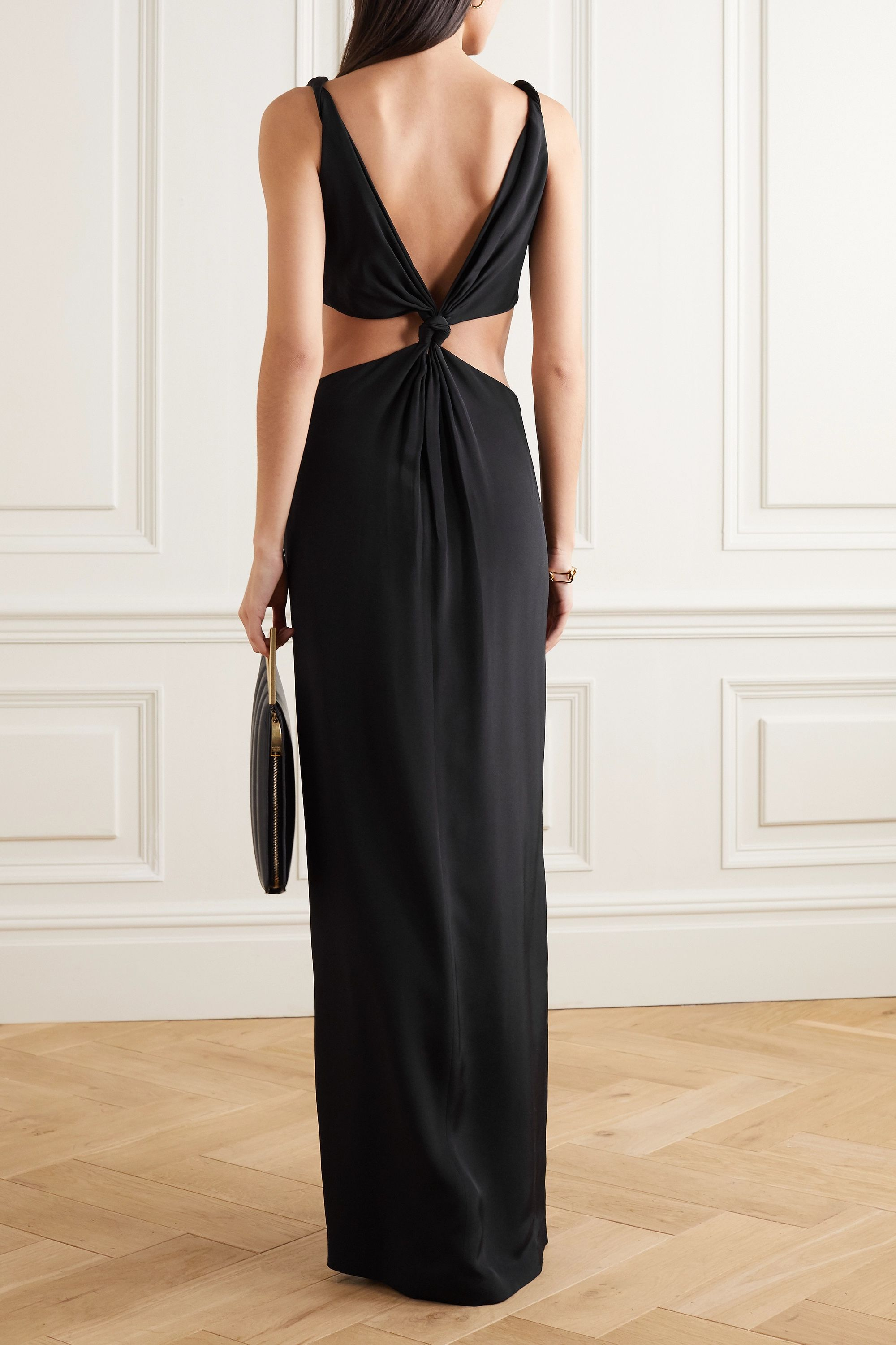Dion Lee Knotted cutout mulberry silk gown