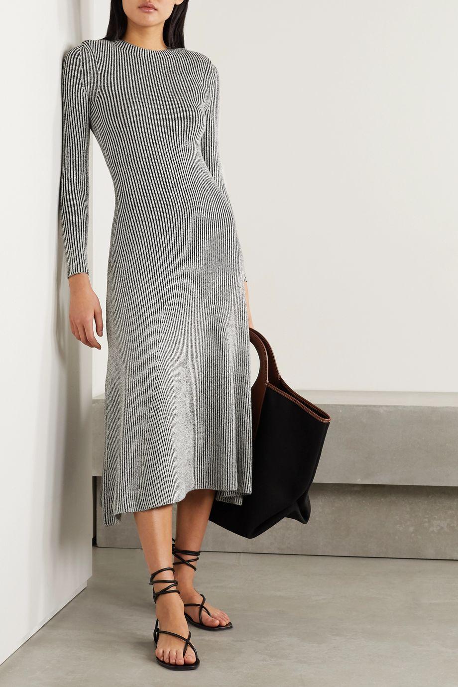 Mara Hoffman + NET SUSTAIN Jasmine ribbed stretch-modal midi dress