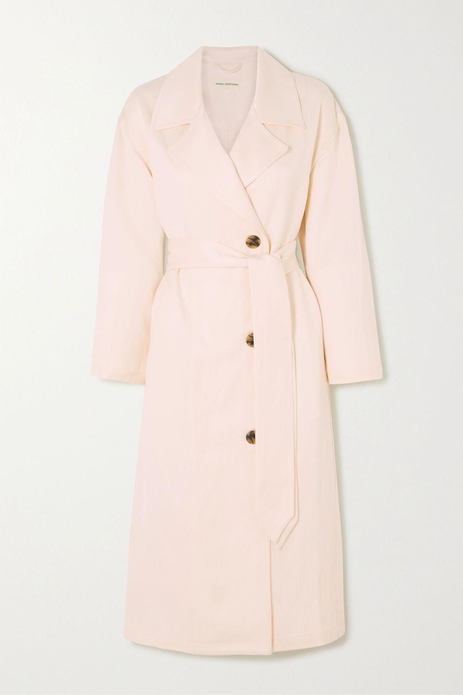 Mara Hoffman + NET SUSTAIN Bernadetta Tencel and linen-blend midi dress