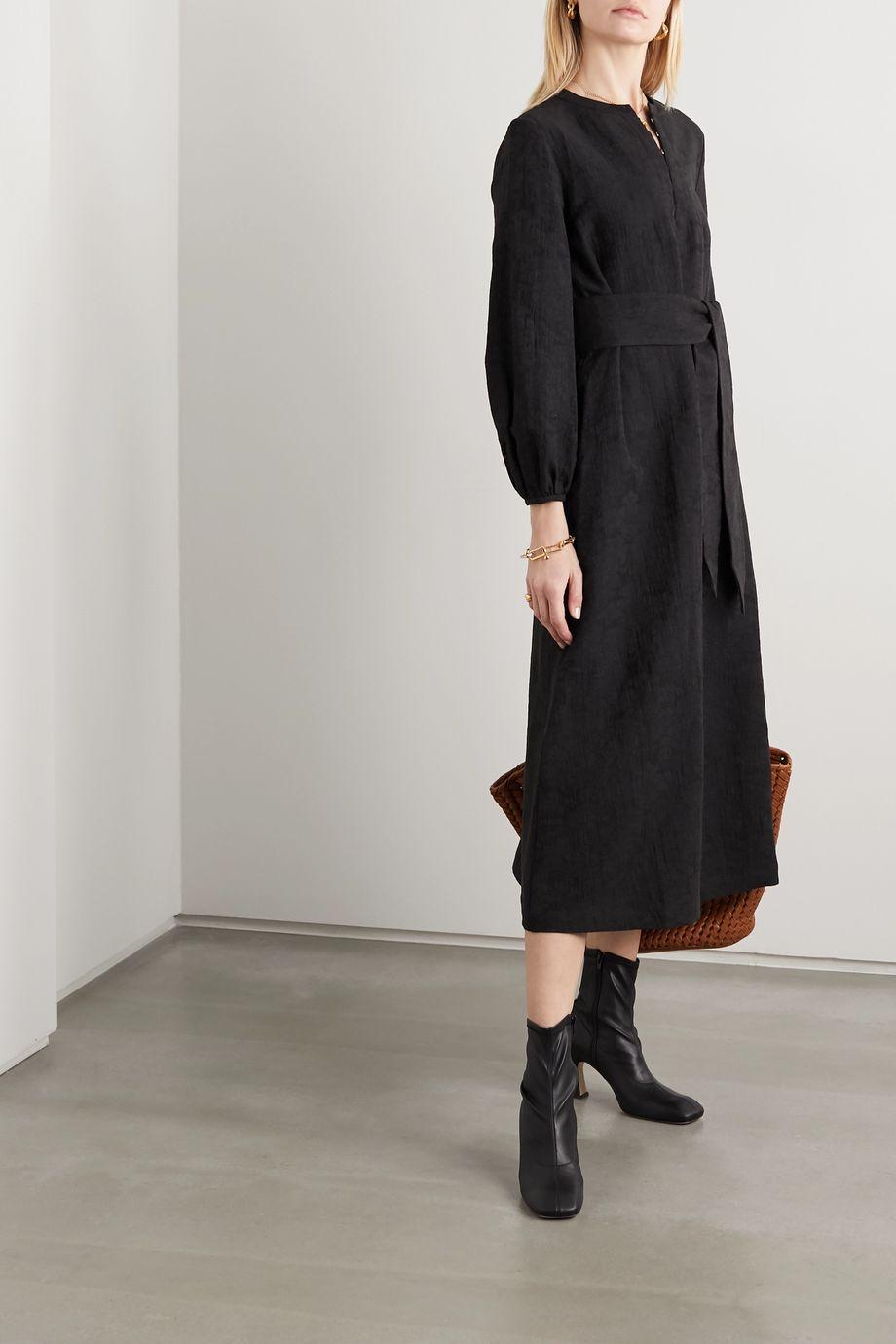 Mara Hoffman + NET SUSTAIN June organic cotton and linen-blend midi dress