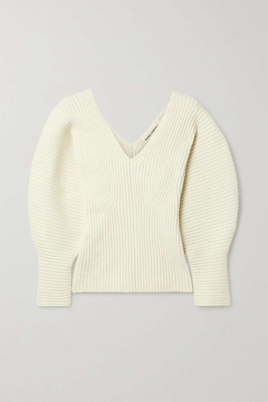 Mara Hoffman 【NET SUSTAIN】Olla 罗纹有机棉质混纺毛衣