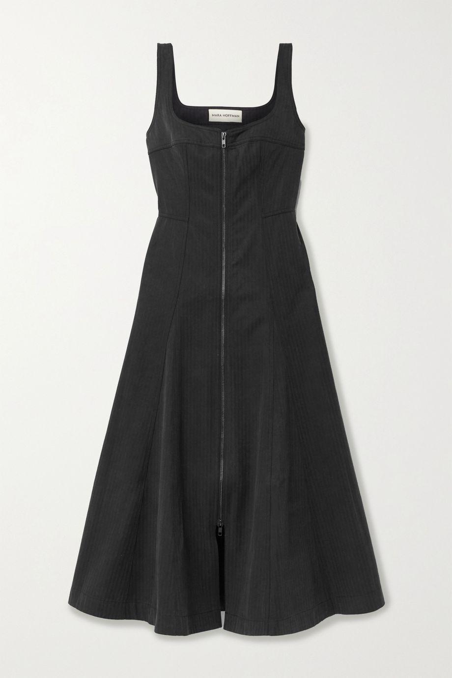 Mara Hoffman + NET SUSTAIN Adriana striped Tencel Lyocell and organic cotton-blend midi dress