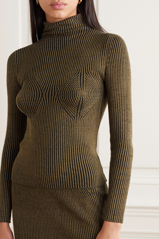 Mara Hoffman + NET SUSTAIN Mida ribbed stretch-modal turtleneck sweater