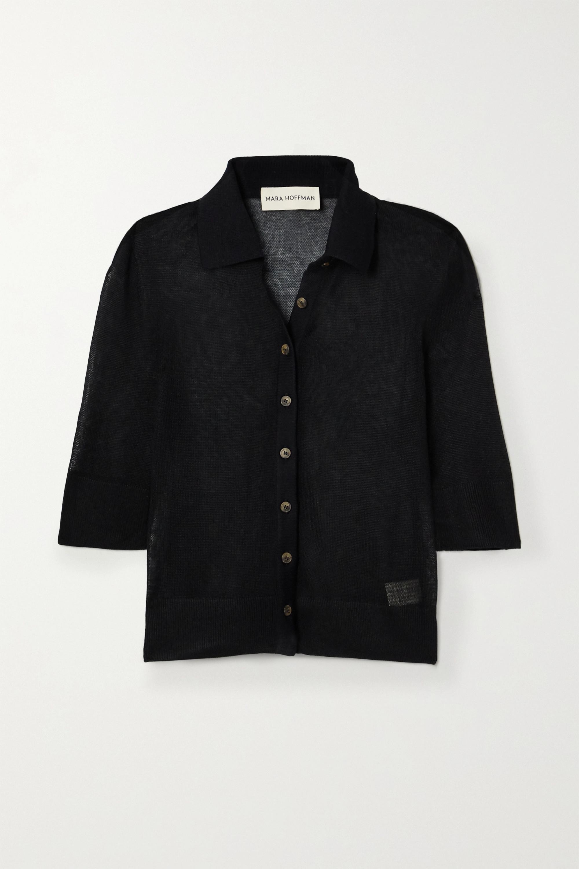 Mara Hoffman + NET SUSTAIN Veronica modal and organic cotton-blend top