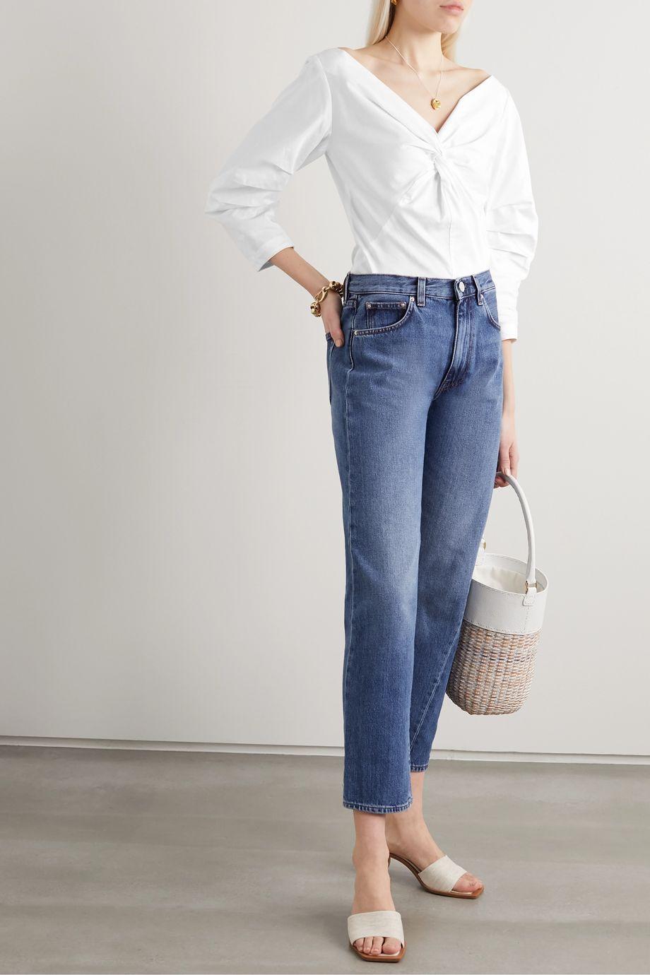 Mara Hoffman + NET SUSTAIN Lela twist-front organic cotton top