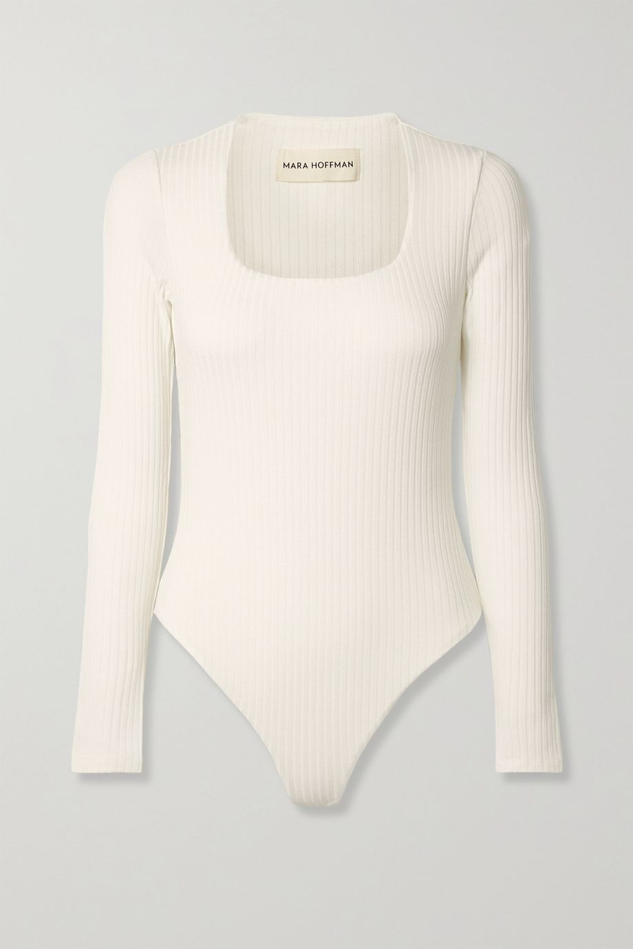 Mara Hoffman + NET SUSTAIN Venus ribbed Tencel Lyocell-blend bodysuit