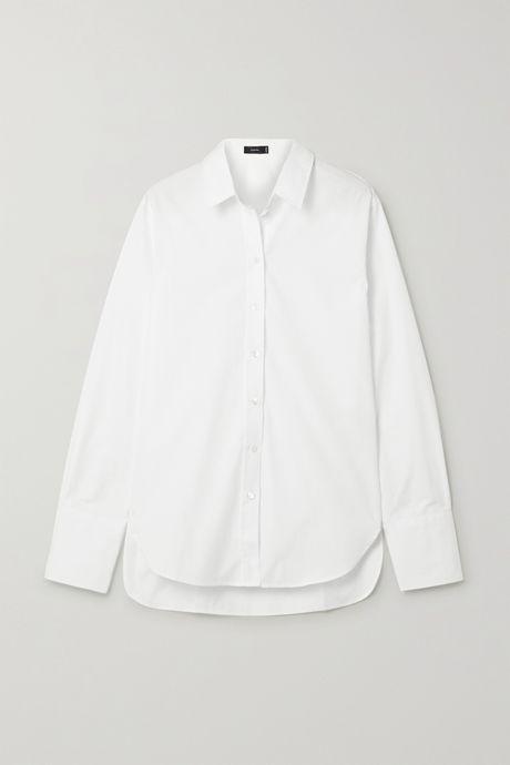 White Joe cotton-poplin shirt   Joseph uGkszV