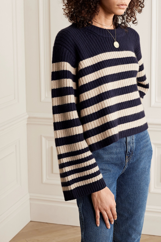 Khaite Dotty verkürzter Pullover aus Kaschmir mit Streifen