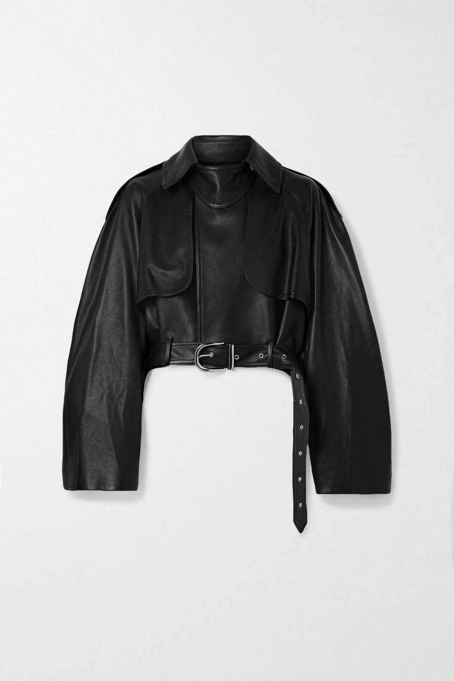 Khaite Krista oversized belted leather jacket