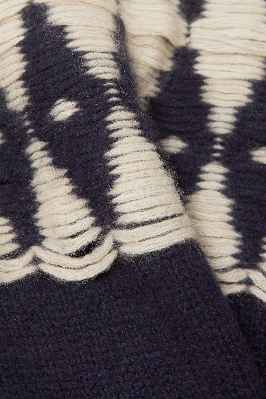 Khaite Romme Kaschmirpullover mit Argyle-Muster