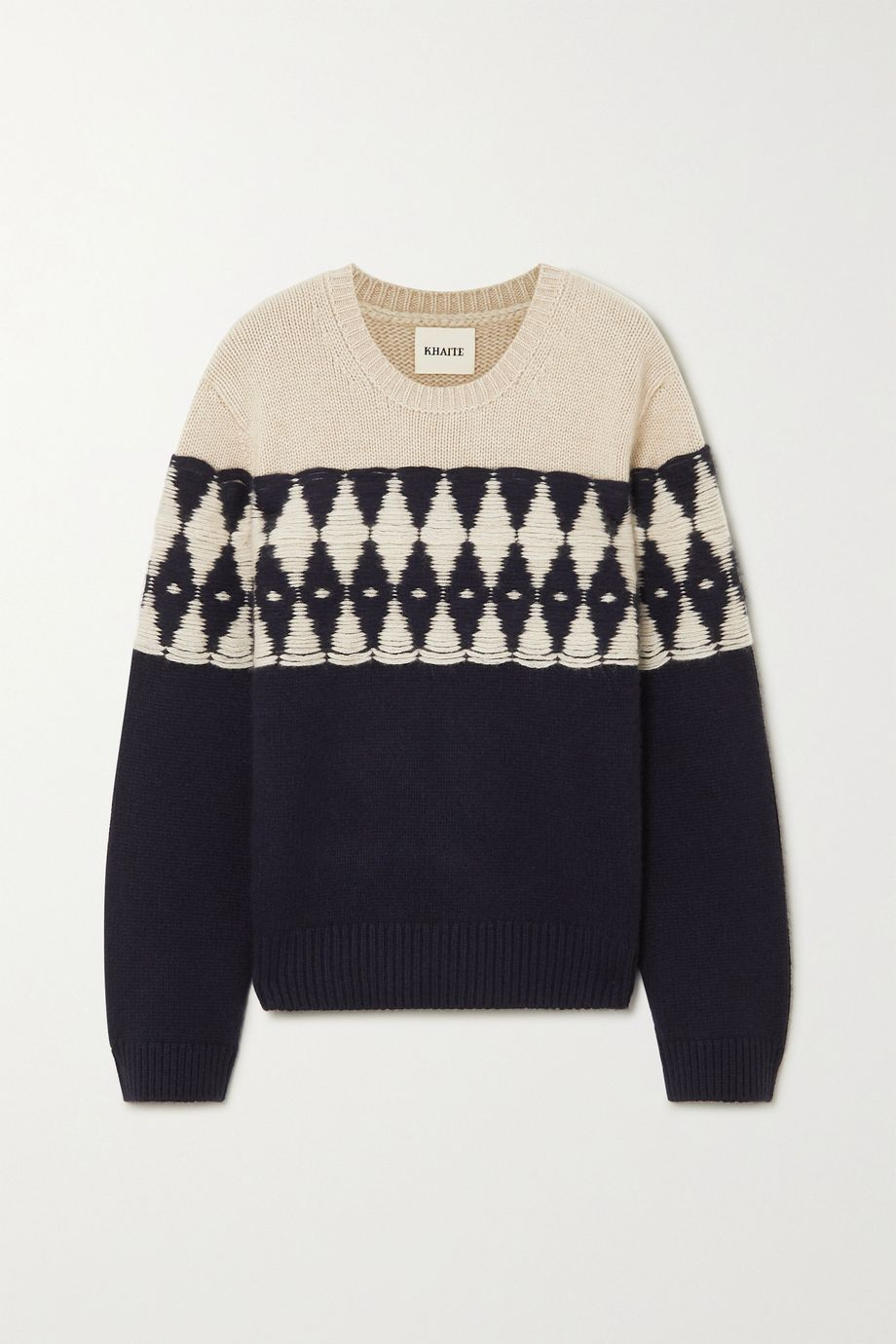 Khaite Romme argyle cashmere sweater