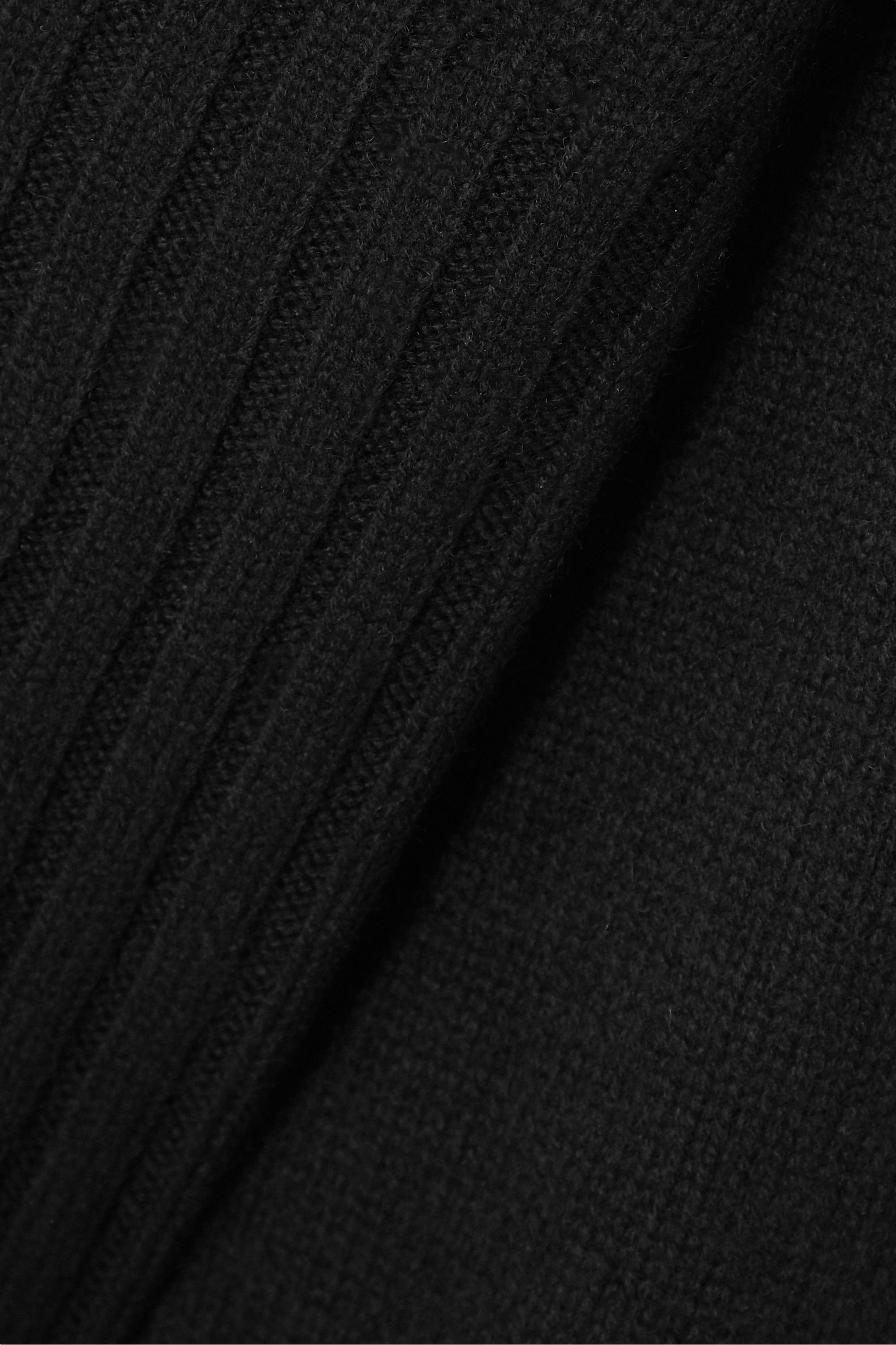 Khaite Colette whipstitched ribbed cashmere sweater