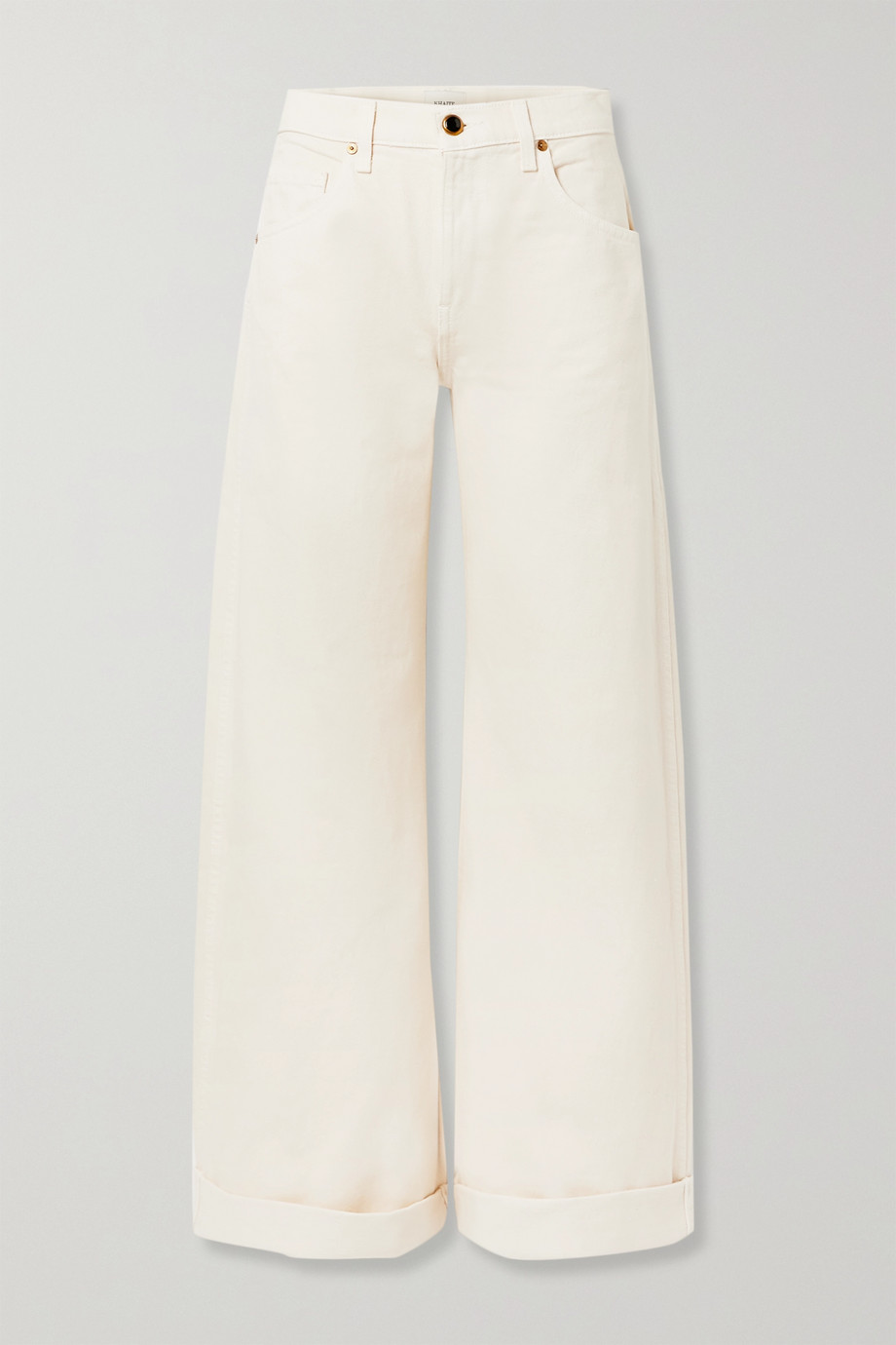 Khaite Noelle cropped high-rise wide-leg jeans