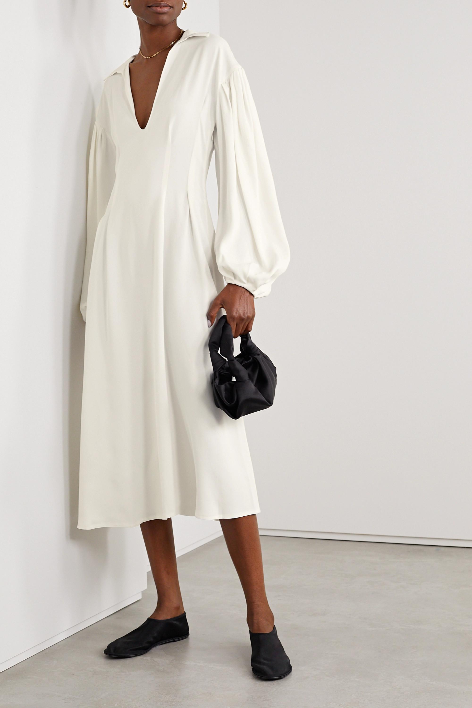 Khaite Farrely crepe midi dress
