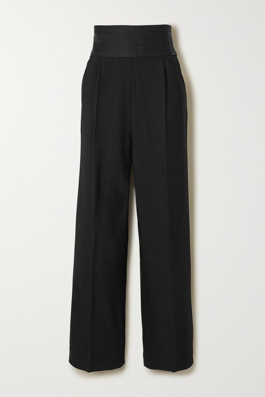 Khaite Blaine stretch-crepe wide-leg pants