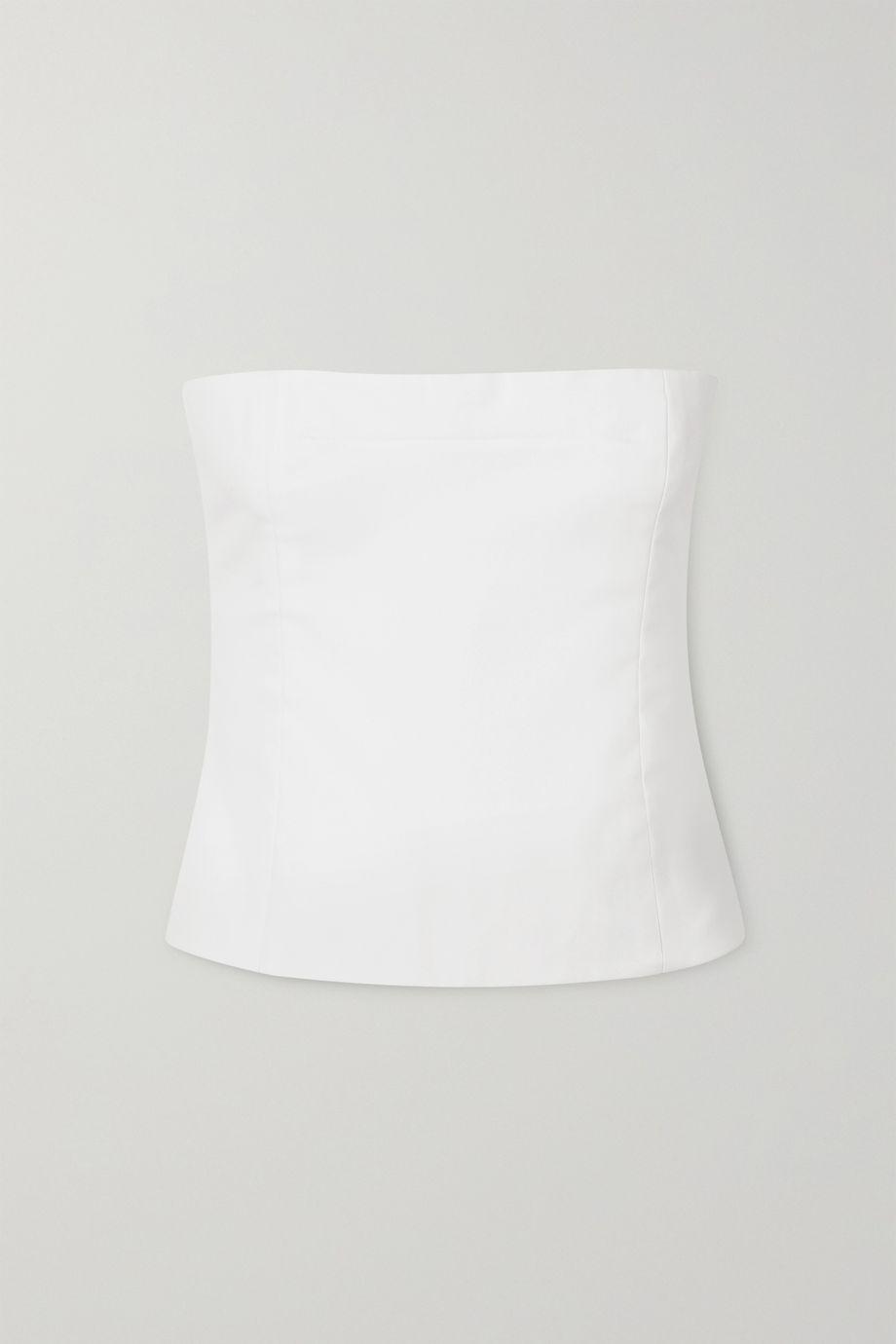 Khaite Percy cotton-twill bandeau top