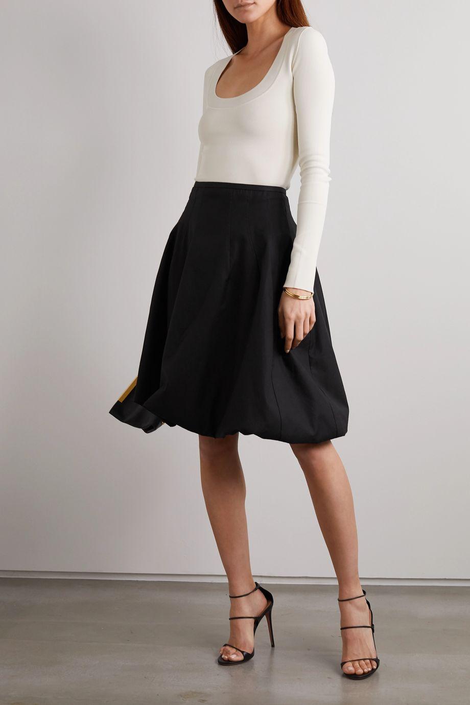 Khaite Tanya poplin skirt