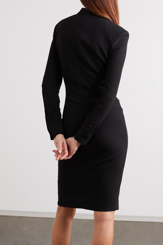 TOM FORD Ruched stretch-georgette dress