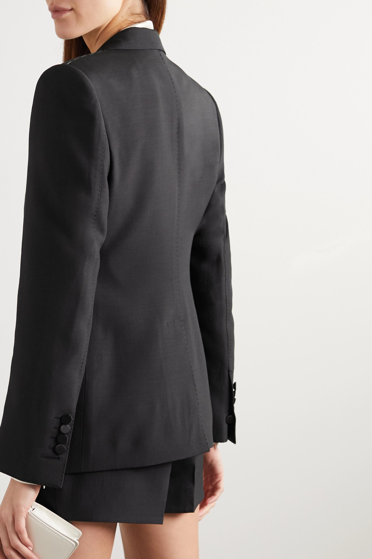 TOM FORD Silk satin-trimmed wool and silk-blend blazer