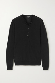 TOM FORD Cashmere and silk-blend sweater