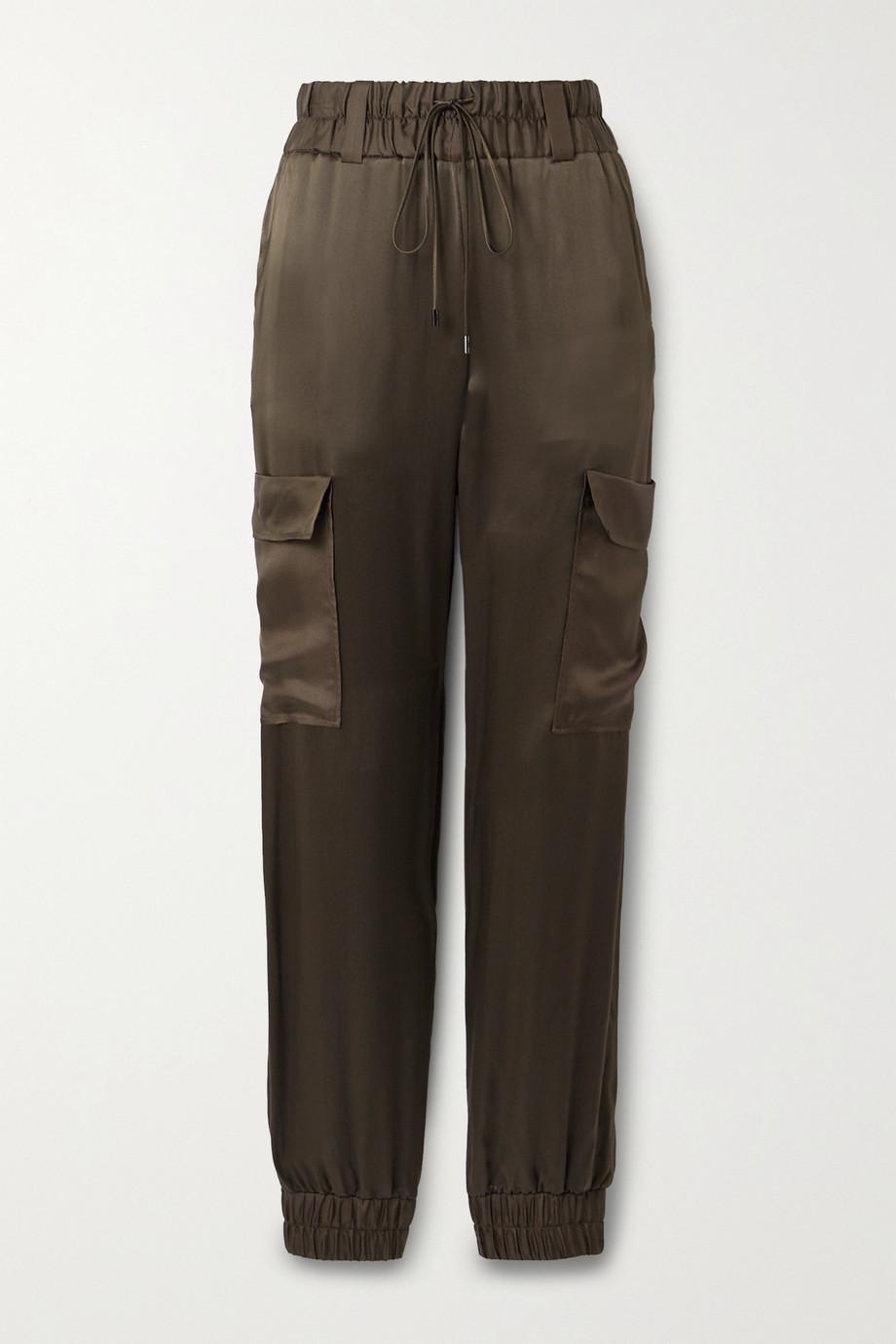 TOM FORD Silk-satin track pants