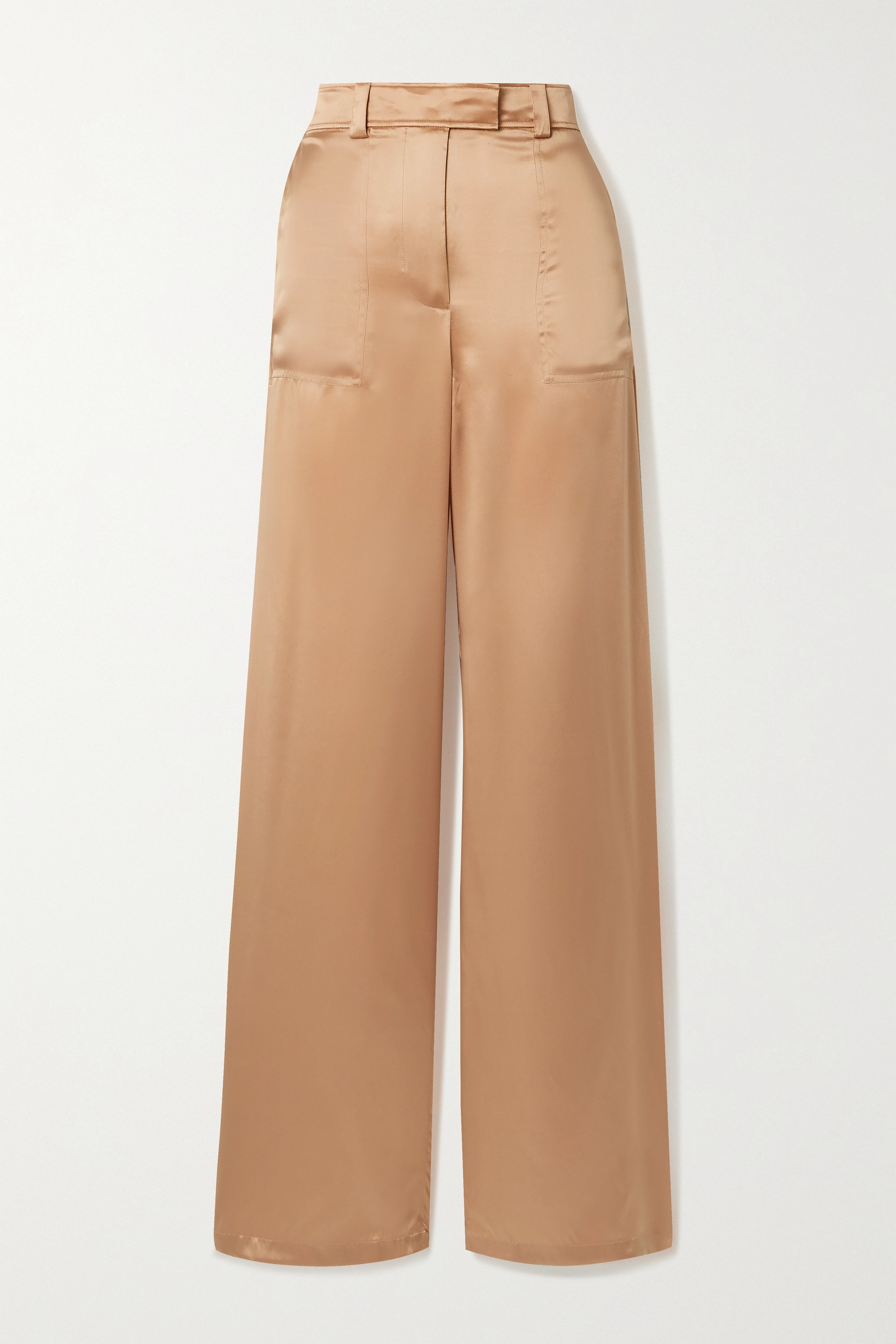 TOM FORD Pantalon large en satin de soie