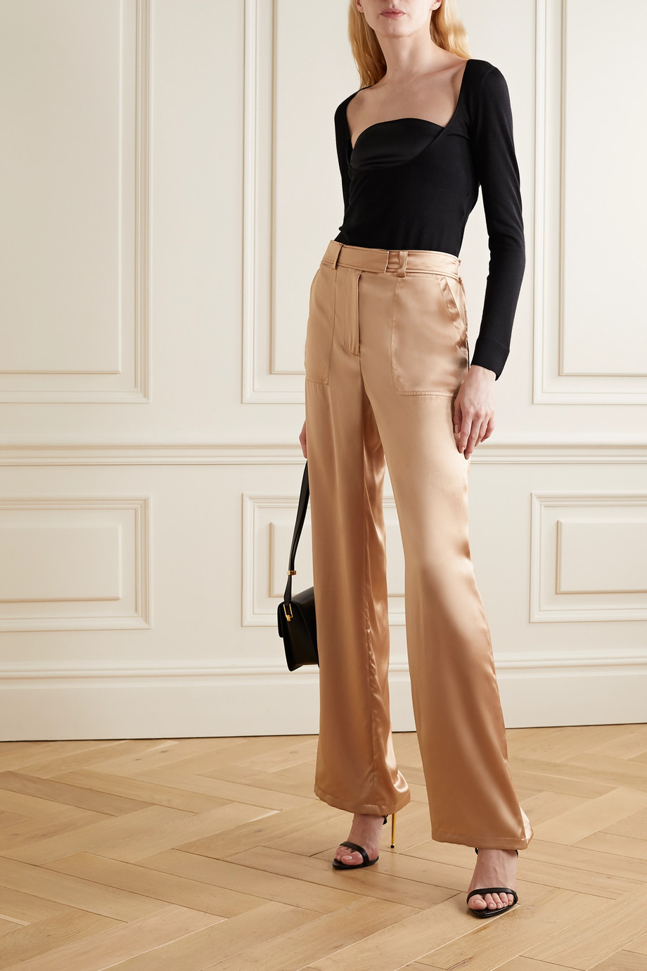 TOM FORD Silk-satin wide-leg pants