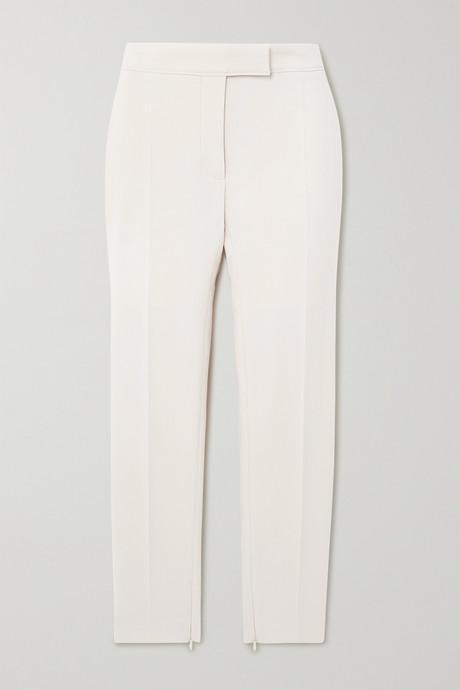 Beige Wool-blend slim-fit pants | TOM FORD apDurT