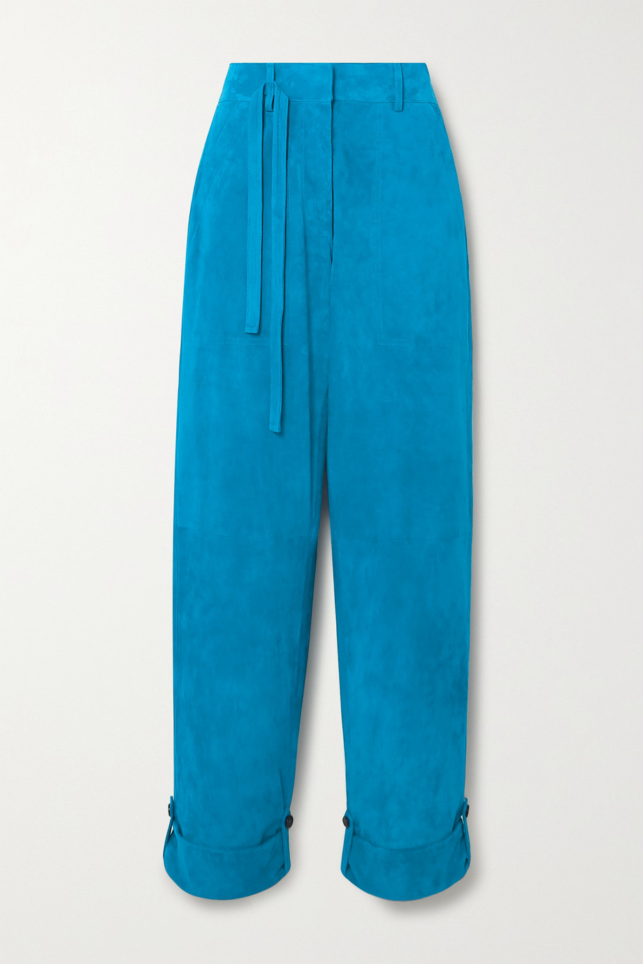 TOM FORD Cropped suede straight-leg pants