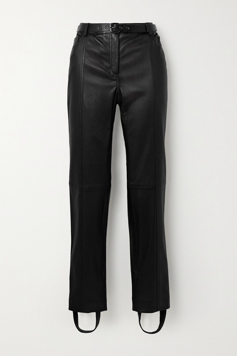 TOM FORD Belted leather straight-leg stirrup pants