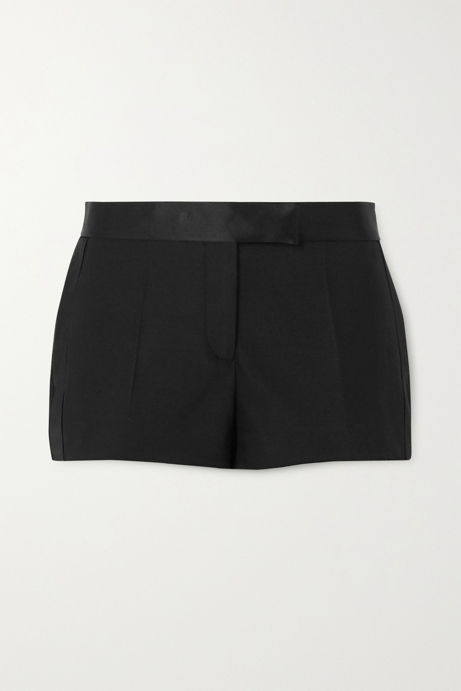 TOM FORD Silk satin-trimmed wool-blend shorts