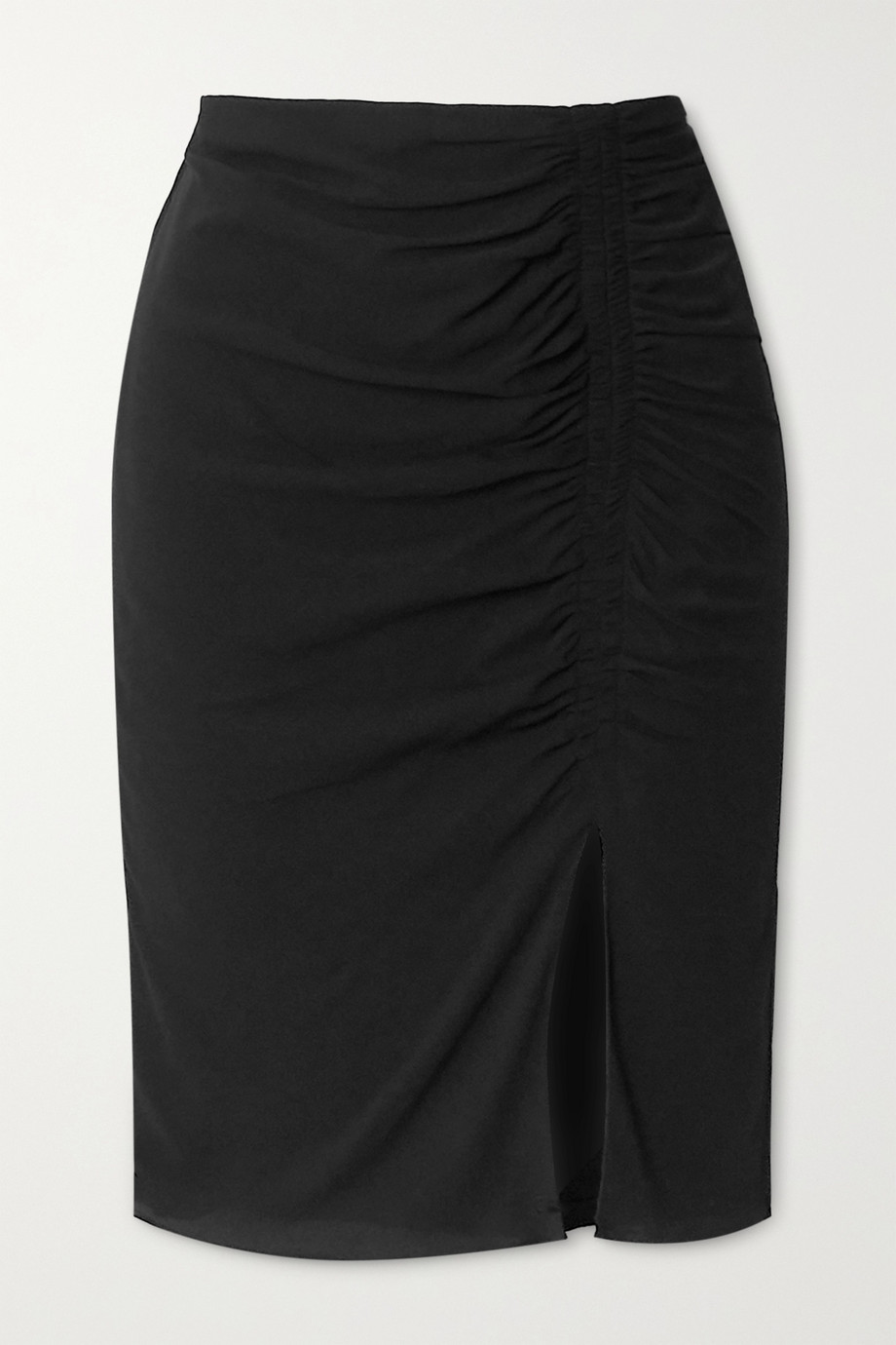 TOM FORD Ruched stretch-crepe midi skirt