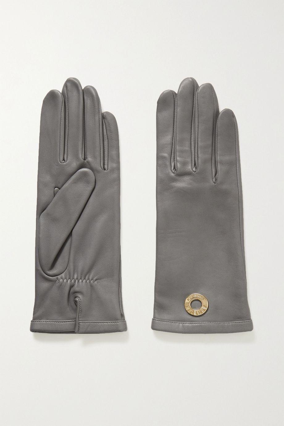 Agnelle Embellished leather gloves