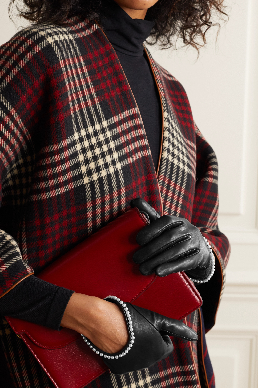 Agnelle Sofia Handschuhe aus Leder mit Kunstperlen