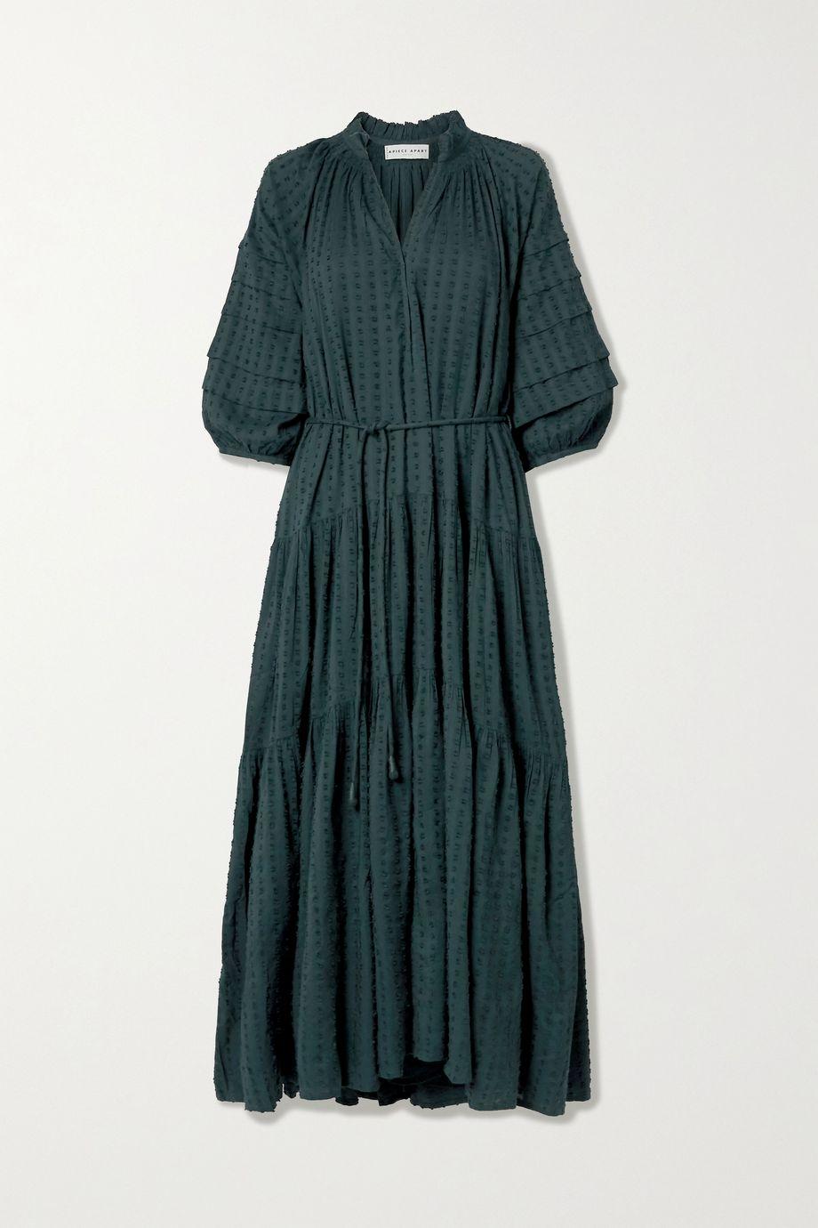 APIECE APART Trinidad belted tiered fil coupé voile maxi dress