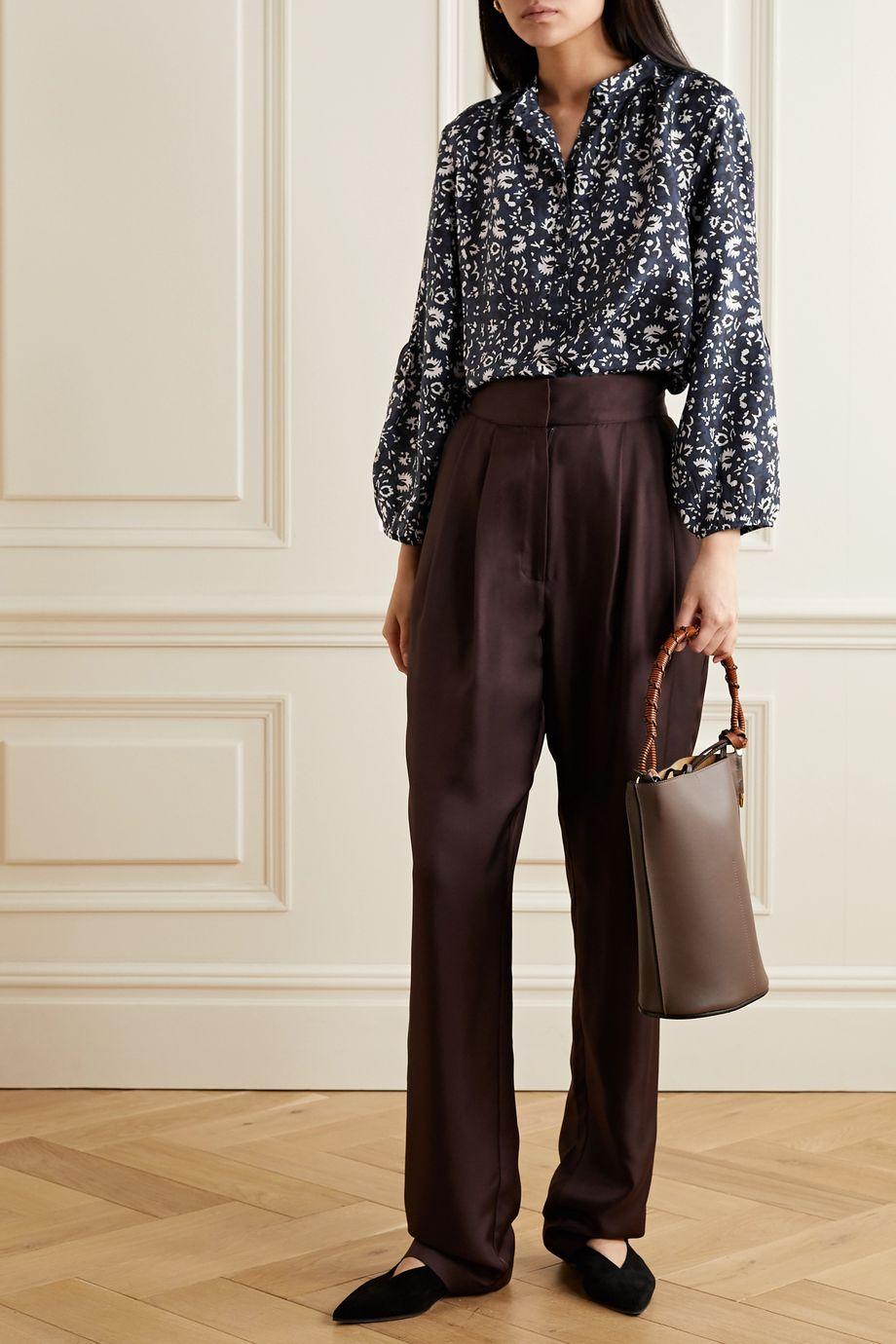 APIECE APART Bravo floral-print silk blouse