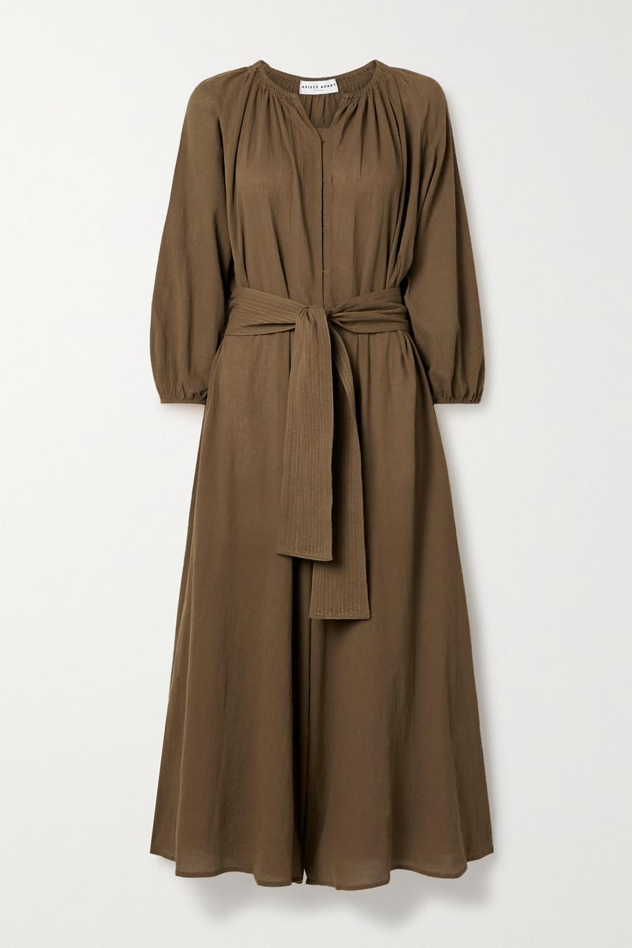 APIECE APART Isla cropped belted cotton-gauze jumpsuit