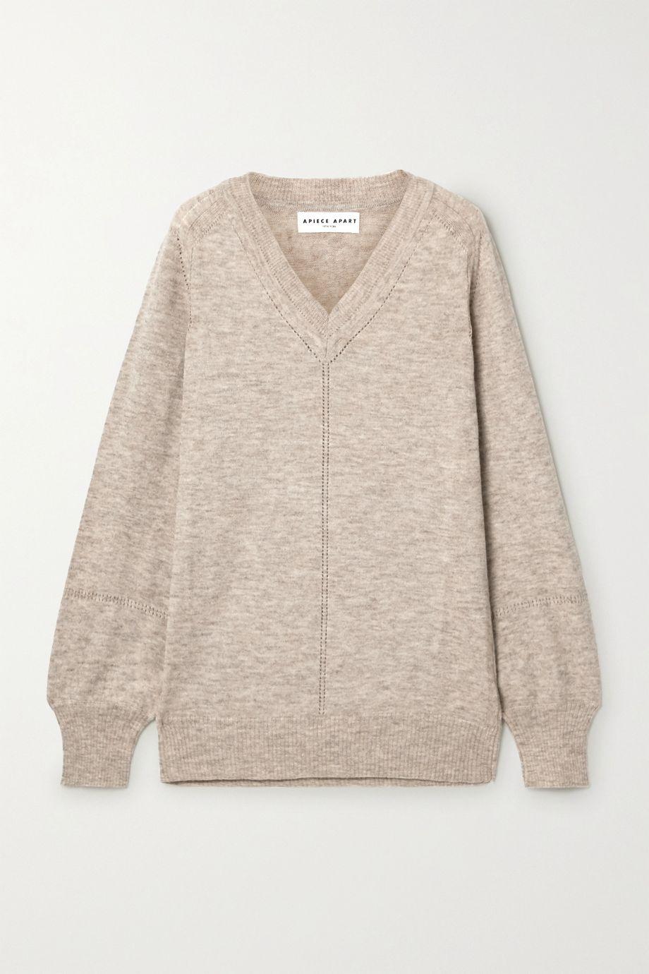 APIECE APART Gabriel oversized mélange alpaca-blend sweater