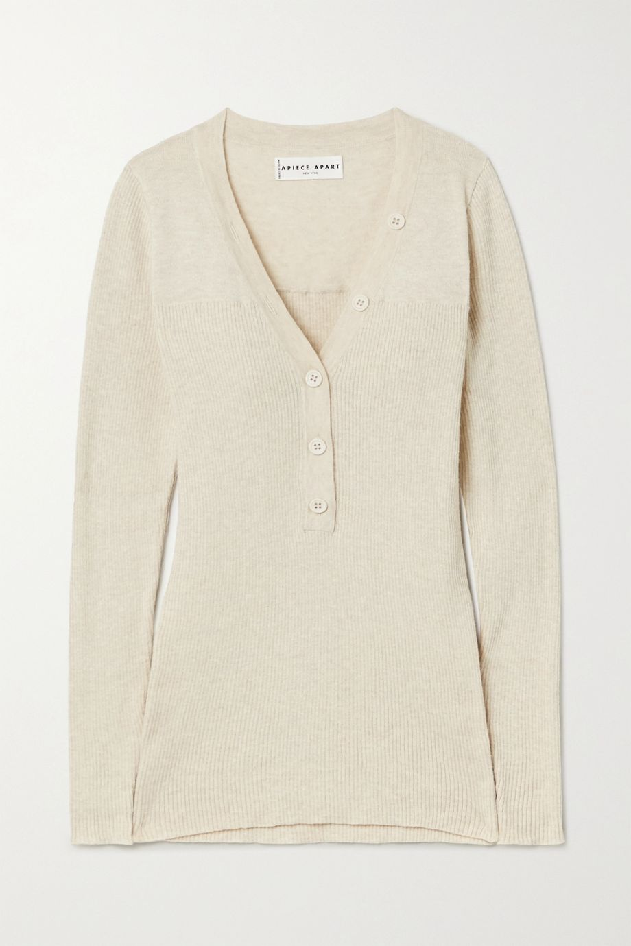 APIECE APART Rio ribbed cotton and cashmere-blend sweater