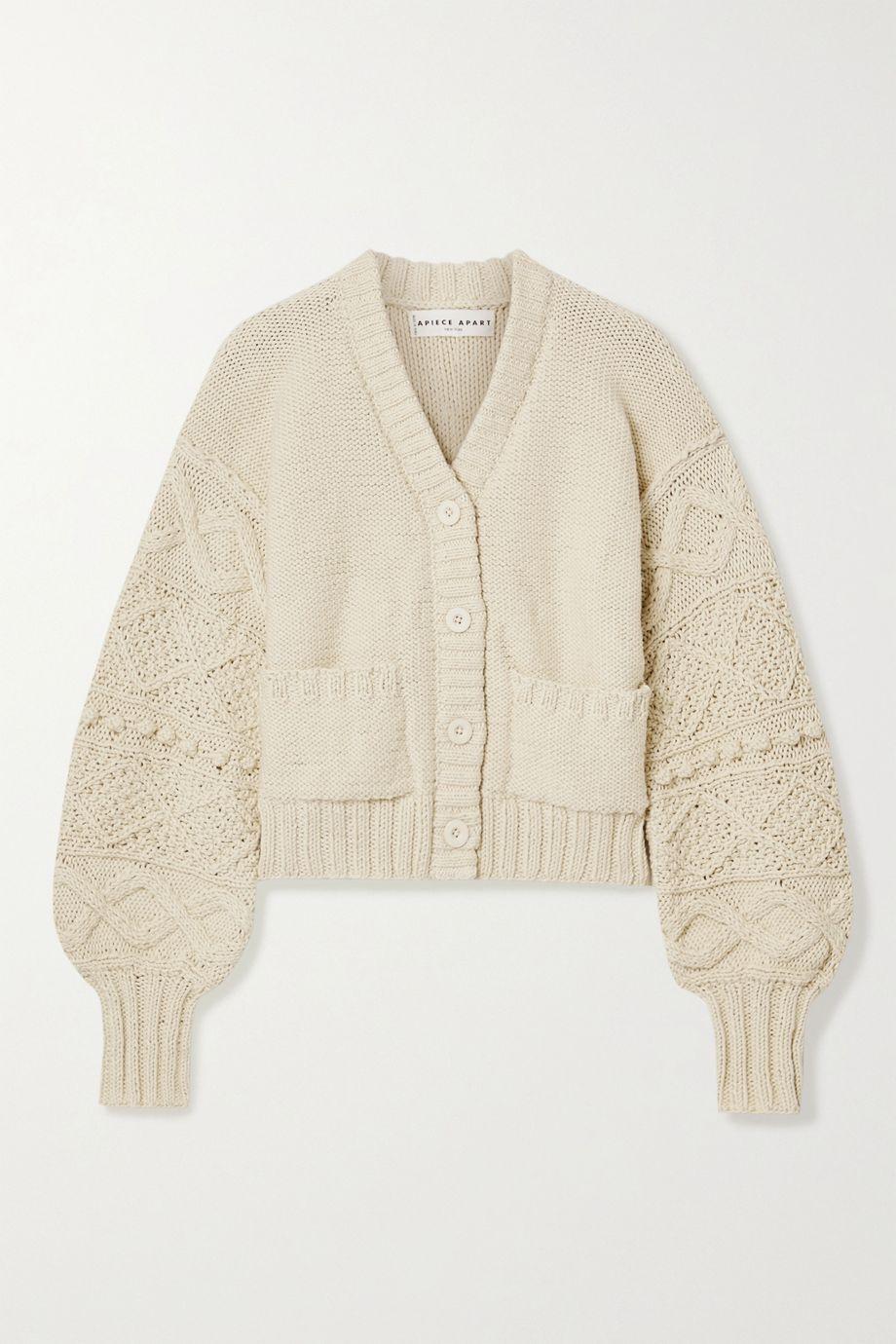 APIECE APART Jacinta cropped cotton cardigan