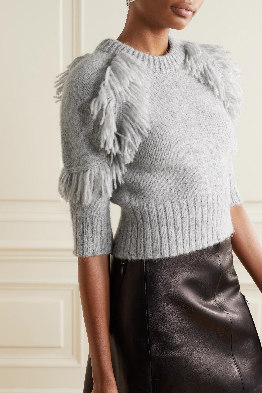 APIECE APART Aldama fringed alpaca-blend sweater