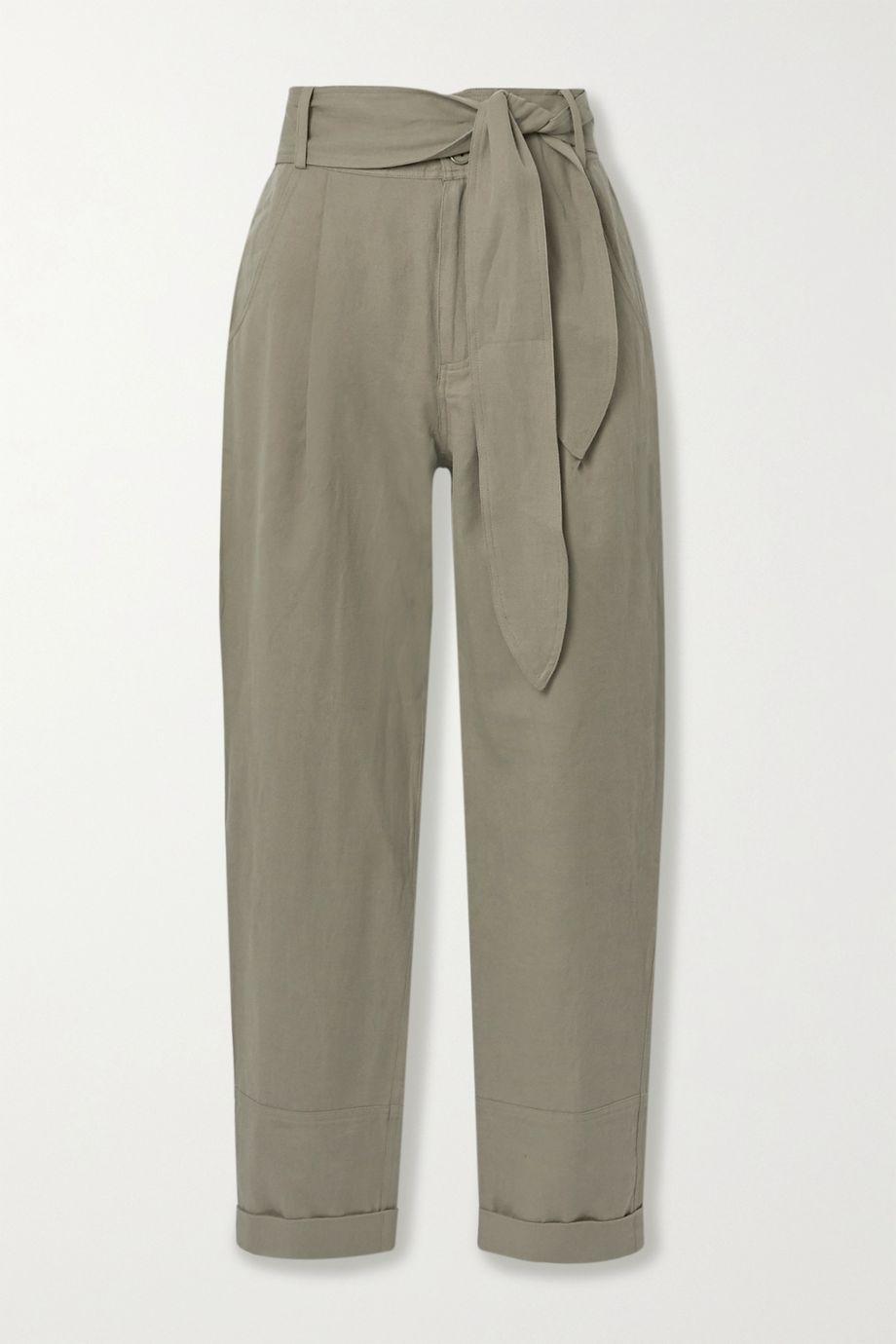 APIECE APART Bendita linen and cotton-blend twill tapered pants