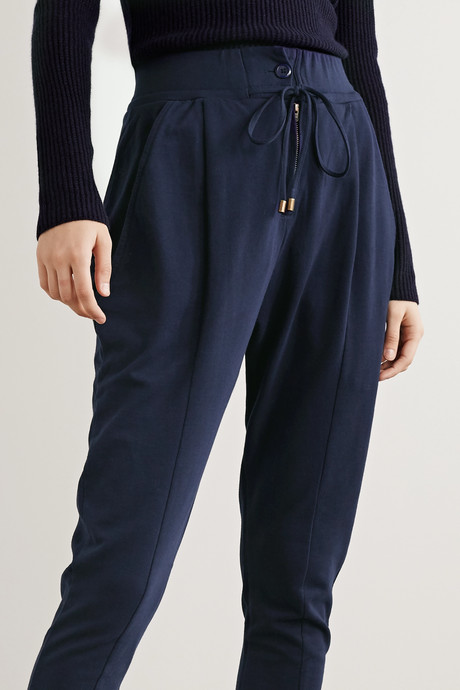 Josephine cotton-jersey track pants