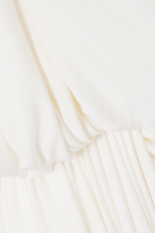 Oscar de la Renta One-sleeve draped jersey top