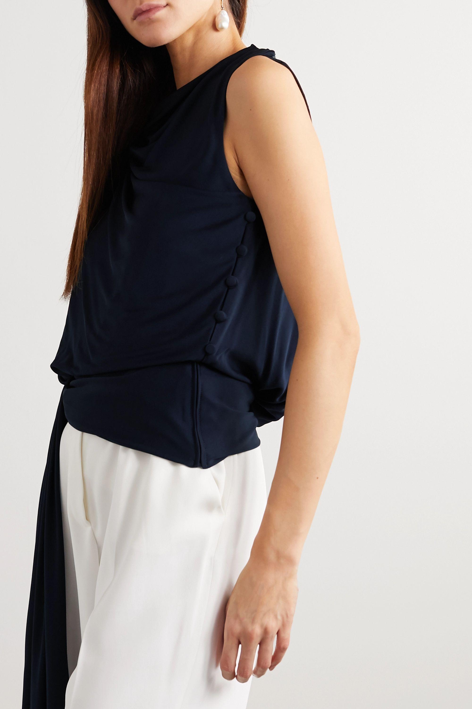 Oscar de la Renta Asymmetric draped jersey top