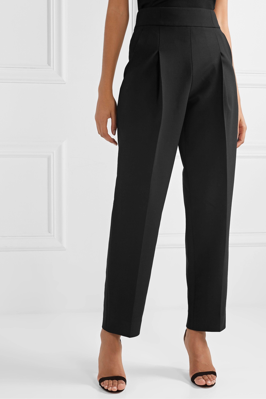 Oscar de la Renta Wool-blend crepe straight-leg pants