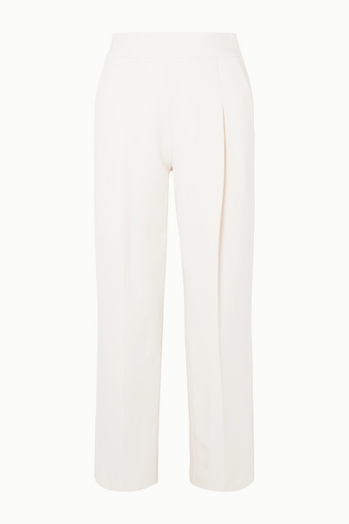 Oscar De La Renta Pants Wool-blend crepe straight-leg pants